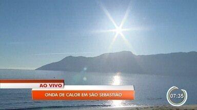 São Sebastião tem recorde de calor neste verão - Temperatura na cidade está na média de 33°C.