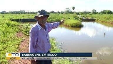 Tocantins tem barragens com risco de deterioração, aponta vistoria do Naturatins - Tocantins tem barragens com risco de deterioração, aponta vistoria do Naturatins
