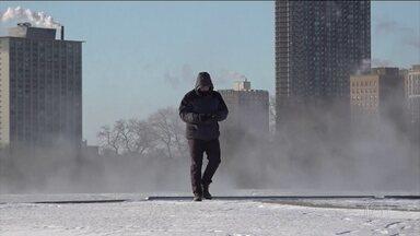 Sobe para 11 o número de mortos na pior onda de frio das últimas décadas nos EUA - Em alguns lugares, a sensação térmica pode chegar a -50ºC.