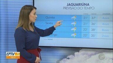 Confira a previsão do tempo para Campinas e região nesta quinta-feira (31) - Máxima de 35° C em Campinas (SP).