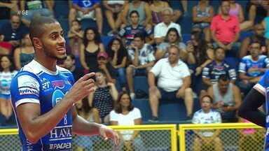 Lucarelli brilha na vitória do Taubaté sobre o Campinas, pela Superliga masculina de vôlei - Lucarelli brilha na vitória do Taubaté sobre o Campinas, pela Superliga masculina de vôlei