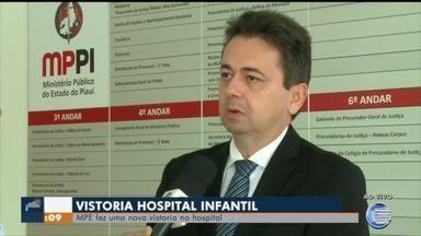 Hospital infantil passa por nova vistoria do MPPI - Hospital infantil passa por vistoria