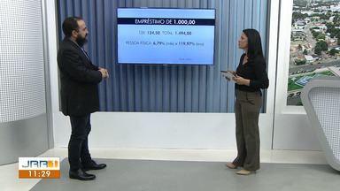 Economista de Roraima fala sobre empréstimo - Rubens Savaris faz demonstrações ao vivo no Jornal de Roraima - 1ª Edição.