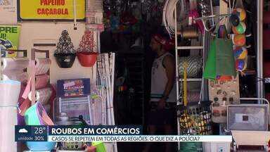Comerciantes do DF estão na mira dos bandidos - Pelo menos duas lojas foram invadidas nesta quinta-feira (31). Um delas, na Asa Sul e, outra, no Gama.
