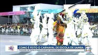 Comissão de frente das escolas de samba é o cartão de visitas das agremiações - Grupos têm no máximo 15 pessoas e recebem cada vez mais investimento nos desfiles.