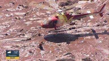 Tragédia em Brumadinho: 110 mortos e 71 deles identificados; 238 desaparecidos - Barragem da Vale se rompeu no dia 25/1 em Brumadinho, MG; lama destruiu refeitório e prédio da mineradora, pousada, casas e vegetação.