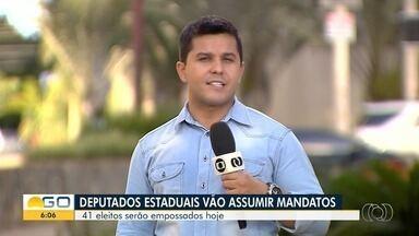 Deputados de Goiás tomam posse nesta sexta-feira - Goiás tem 17 deputados federais e 41 deputados estaduais.