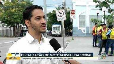 Campanha em Sobral quer combater serviço clandestino de mototáxi - Só no ano passado 43 pessoas foram autuadas.