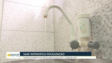 Em Vilhena, SAAE intensifica fiscalização - O serviço de água e esgoto teve prejuízo de mais de um milhão de reais em 2018