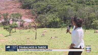 Tragédia em Brumadinho: 110 mortes confirmadas, 71 corpos identificados; 238 desaparecidos - Barragem da Vale se rompeu no dia 25/1 em Brumadinho, MG; lama destruiu refeitório e prédio da mineradora, pousada, casas e vegetação.