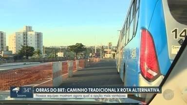 Av. das Amoreiras sofre novos bloqueios para obras do BRT, em Campinas - Trecho na região do Jardim do Lago fica totalmente bloqueado até 16h desta sexta-feira (1º). Equipe do EPTV1 percorreu o trajeto.