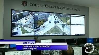 Guaratinguetá começou o monitoramento por câmeras de segurança - Câmeras começaram a funcionar com atraso.