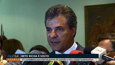 STJ determina liberação do ex-governador Beto Richa - A justiça considerou que não há provas de que ele tentou coagir testemunhas