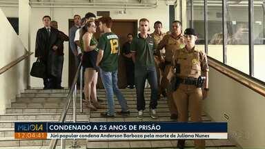 Tribunal do Júri condena acusado de matar namorada com taco beisebol - Anderson Barboza foi condenado a 25 anos de prisão de morte de Juliana Nunes.