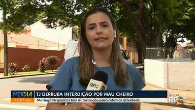 TJ derruba embargo à empresa que seria responsável por mau cheiro - Ao todo dez empresas foram notificadas suspeitas de causar mal cheiro que se espalha por Maringá.