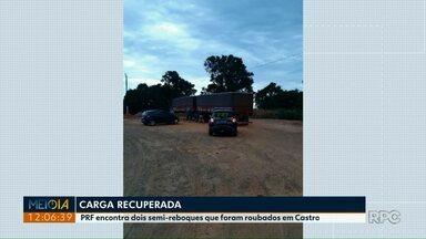PRF recupera em Ponta Grossa dois semirreboques roubados com 37 t de milho - Na última terça-feira (29), caminhoneiro foi rendido por ladrões.