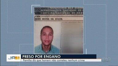 Família denuncia que parente foi preso por engano, em Goiânia - Segundo eles, homem havia perdido documentos pessoais, que podem ter sido usados por bandidos.