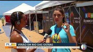 Tenda da saúde em Rio das Ostras distribui protetor solar e labial; saiba como se proteger - Assista a seguir.