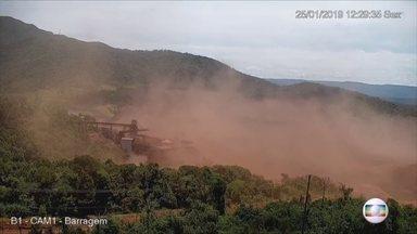 Boletim: Vídeo mostra o momento exato em que barragem da Vale estoura em Brumadinho - Vídeo mostra o momento exato em que barragem da Vale estoura em Brumadinho.
