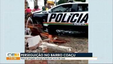 Perseguição policial termina em acidente em Fortaleza - Confira outras notícias no g1.globo/ce