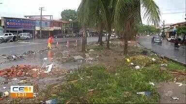 Lixo complica situação em pontos alagados de Fortaleza - Confira outras notícias no g1.globo/ce