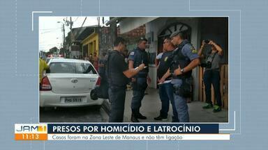 Polícia apresenta suspeitos de homicídios em Manaus - Casos foram na Zona Leste de Manaus.