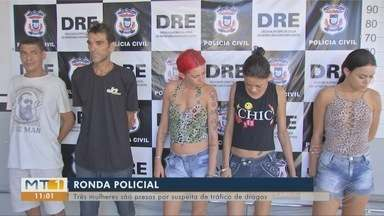 Três mulheres são presas por suspeita de tráfico de drogas - Três mulheres são presas por suspeita de tráfico de drogas.