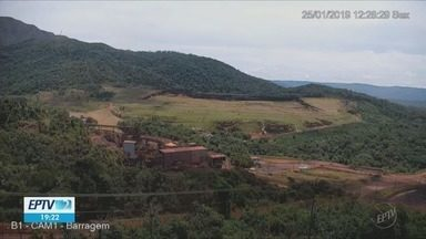 Imagens mostram momento em que barragem da Vale se rompe em Brumadinho (MG) - Imagens mostram momento em que barragem da Vale se rompe em Brumadinho (MG)