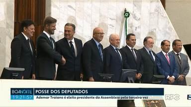 Deputados estaduais tomam posse e elegem mesa diretiva da Alep - Ademir Traiano é eleito presidente da Casa pela terceira vez.