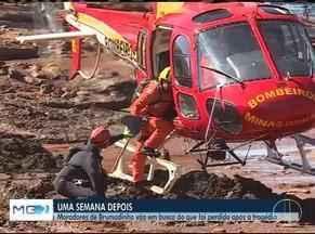 Tragédia de Brumadinho completa uma semana e buscas por desaparecidos continuam - Ao menos quatro norte-mineiros estão entre as vítimas do desastre.