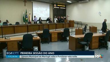 Câmara Municipal de Maringá retoma as atividades - Foi realizada primeira sessão extraordinária do ano.