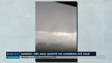 Londrina teve o janeiro mais quente em 43 anos - Veja também como deve se comportar o tempo em fevereiro.