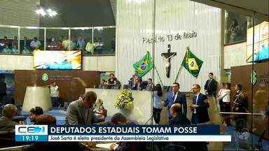 Deputados estaduais tomam posse na AL-CE - José Sarto, do PDT, foi eleito presidente da mesa diretora