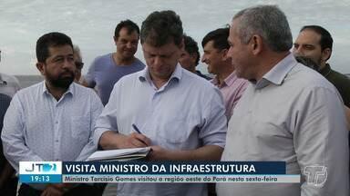 Ministro da infraestrutura, Tarcísio Gomes, visita BR-163 na região oeste do Pará - Ministro visitou cidades nesta sexta-feira (1) e falou sobre melhorias melhorias na rodovia e privatização.