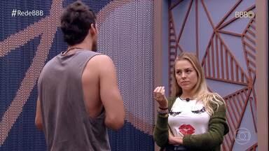 Programa de 02/02/2019 - Maycon e Isabella discutem a relação. Tereza e Maycon levam Diego e Elana para o almoço do anjo. Os brothers se preparam para curtir a festa Bali