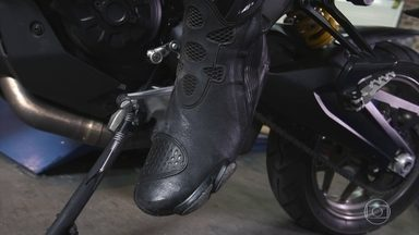 Botas para motociclistas protegem os pés em caso de acidente - Botas para motociclistas protegem os pés em caso de acidente