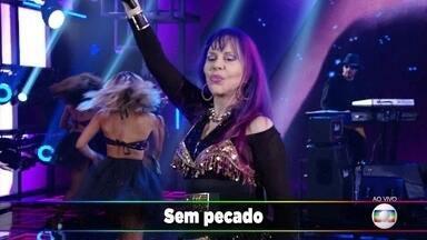 """Baby do Brasil levanta o Domingão com """"Sem Pecado e Sem Juízo"""" - Todos cantam o sucesso"""