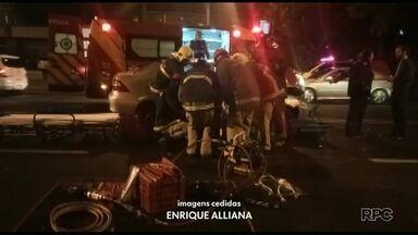 Pessoas ficam feridas em acidente na avenida General Meira - Uma, em estado grave, foi levada para o hospital municipal