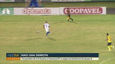 Foz perde para o Cascavel FC por 2 a 0 - O time segue na lanterna do grupo A.