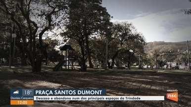 Praça Santos Dumont, em Florianópolis, apresenta falhas na estrutura - Praça Santos Dumont, em Florianópolis, apresenta falhas na estrutura