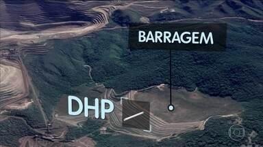 Força tarefa afirma que equipamentos indicaram alteração de volume de água na barragem - Número de mortos chega a 142; Vale rebate afirmação de investigadores e diz que nível de água na seção principal da barragem caiu.