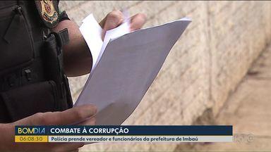 Polícia prende vereador e funcionários da prefeitura de Imbaú - Operação investiga desvio de dinheiro por meio de licitações.