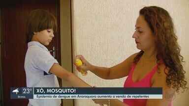 Epidemia de dengue em Araraquara aumenta a venda de repelentes - 906 pessoas já foram contaminadas com a doença neste ano na cidade.