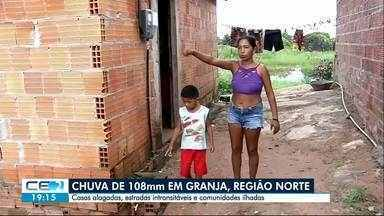 Chove em todas as regiões do Ceará - Granja foi onde mais choveu no estado: 108 milímetros