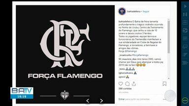 Clubes baianos mandam condolências após tragédia no CT do Flamengo, no Rio de Janeiro - No acidente, dez jovens morreram e três estão internados em hospitais da região.