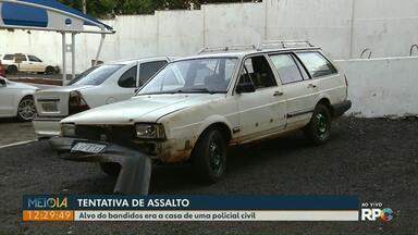 Bandidos tentam assaltar casa de policial em Foz - Dois suspeitos foram presos e um menor apreendido.