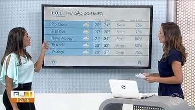 Temperaturas passam dos 30 graus neste sábado no Sul do Rio - Por causa do calor, há possibilidade de chuva fraca e isolada na região.
