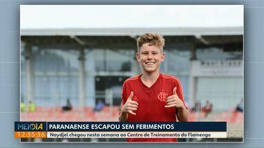 Pais de menino que sobreviveu ao incêndio no CT do Flamengo ainda aguardam retorno dele - Naydjel havia chegado ao CT dias antes da tragédia.
