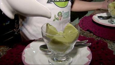 Receita de sorvete de abacate com calda de açaí - Programa exibido dia 10/02/2019
