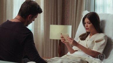 Cris lê a carta de Julia para Piedade - Alain pede que Cris não voltei mais ao casarão de Julia Castelo
